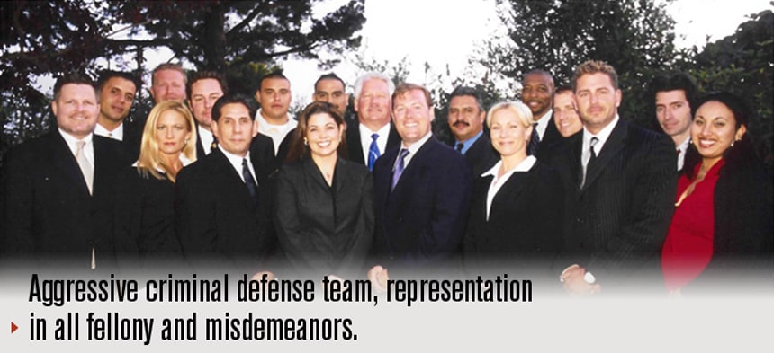 Aggressive criminal defense team, representation in all fellony and misdemeanors.